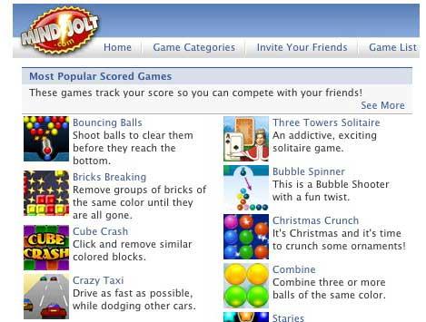 mindjolt - facebook game