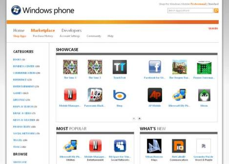 windows phone marketplace screenshot