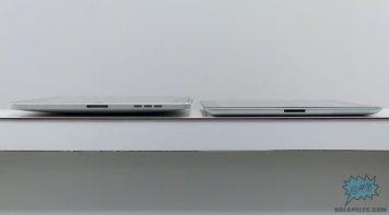 Comparación del grosor entre el iPad 2 y su predecesor