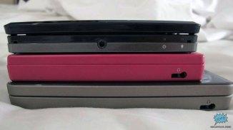 Comparación de tamaño de perfil entre el 3DS, DSi y el DSi XL