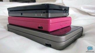Comparación de tamaño en perspectiva entre el 3DS, DSi y el DSi XL