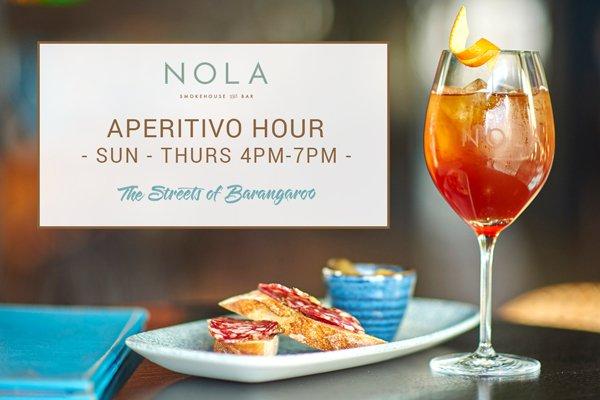 NOLA Aperitivo Hour The Streets of Barangaroo