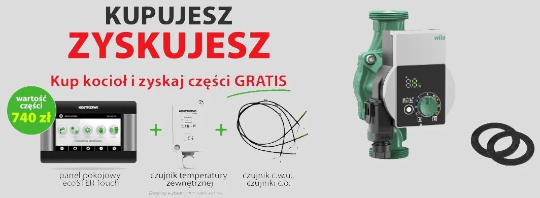 Promocja – Kupujesz, Zyskujesz. Do kotła Kostrzewa dostajesz Gratisy za 740zł + Pompa energooszczędna GRATIS