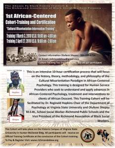 1st African-Centered Cohort-Training and Certification @ Virginia State University, Hunter-McDaniel Building | Petersburg | Virginia | United States