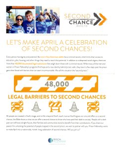 Second Chance Month