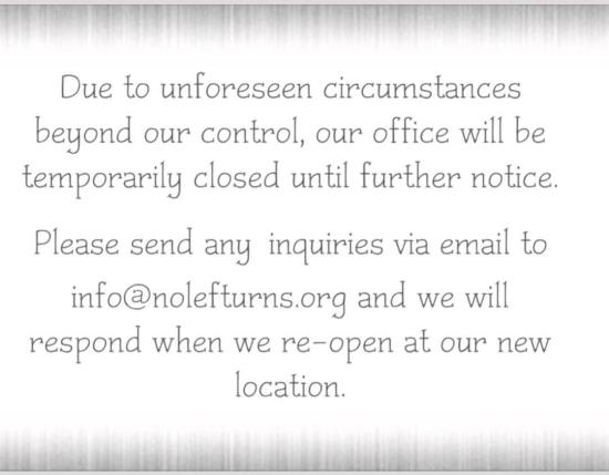 Our Office Is Moving! – Nolef Turns, Inc