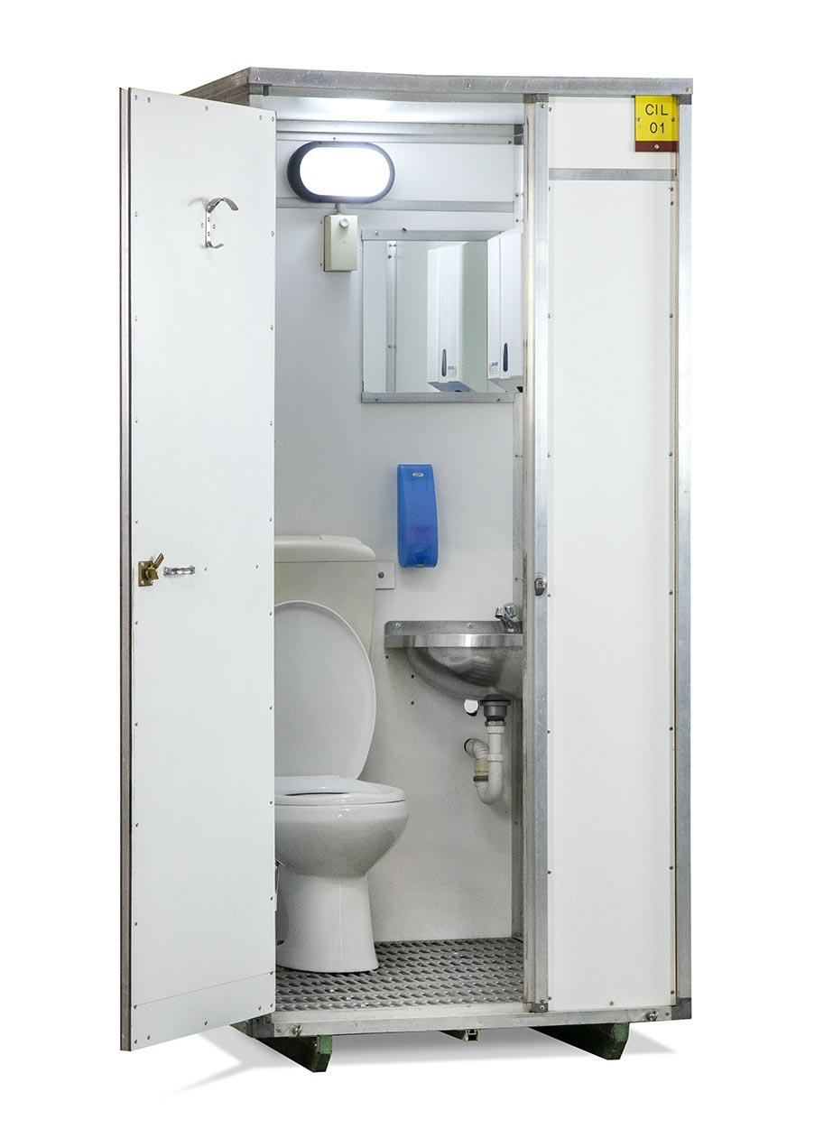 noleggio bagno idrico chimico WC e lavabo