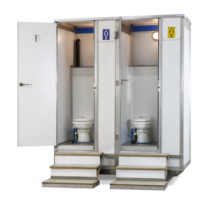 noleggio bagno idrico chimico autonomo 2 wc e lavandino
