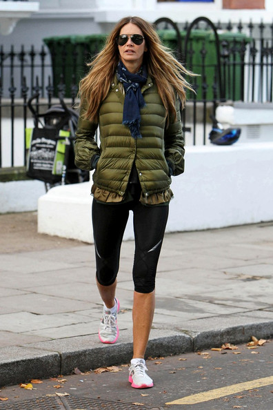 Street Snapper Celebrity  models workout style in the