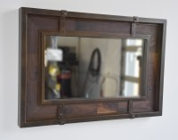 Nollette Metal Works :: Rustic wood and oxidized metal mirror