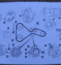 2 preparatory works timing belt replacement diy mechanics 2 preparatory works diagram for 390 engine  [ 1066 x 800 Pixel ]