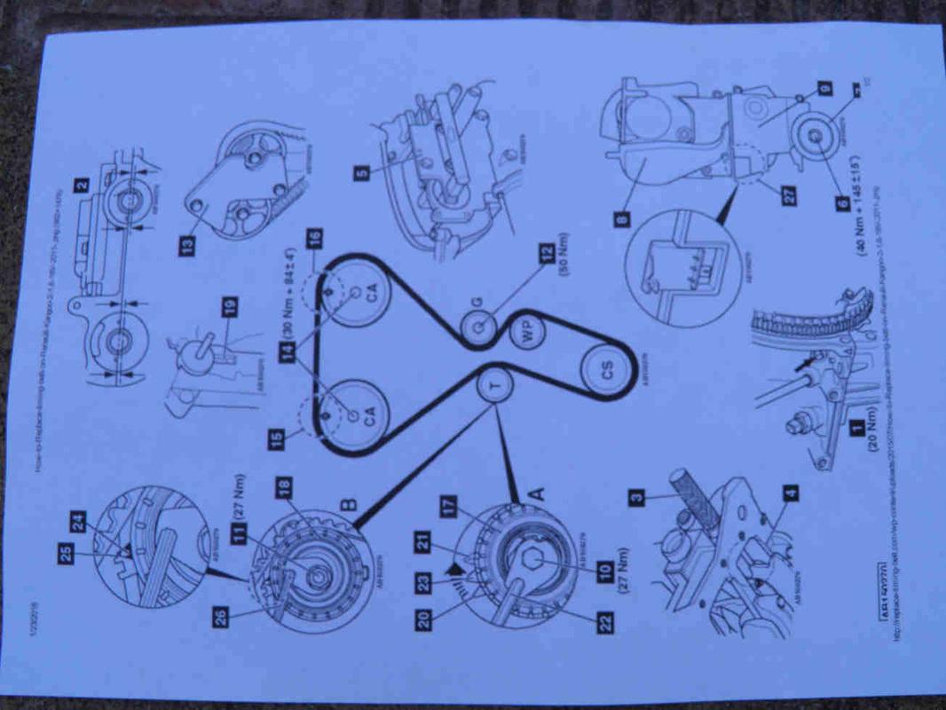 hight resolution of 2 preparatory works timing belt replacement diy mechanics 2 preparatory works diagram for 390 engine