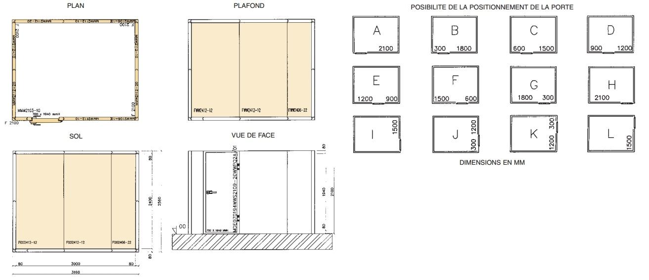 Exemple dun plan de montage dune chambre froide  Nouvelles  NomaCoolNord