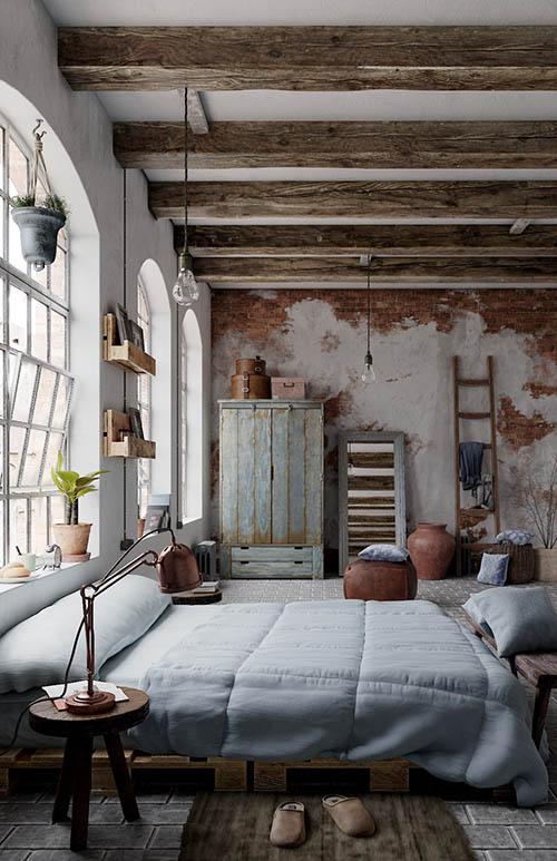 11 Dormitorios Rsticos para no salir nunca de Casa