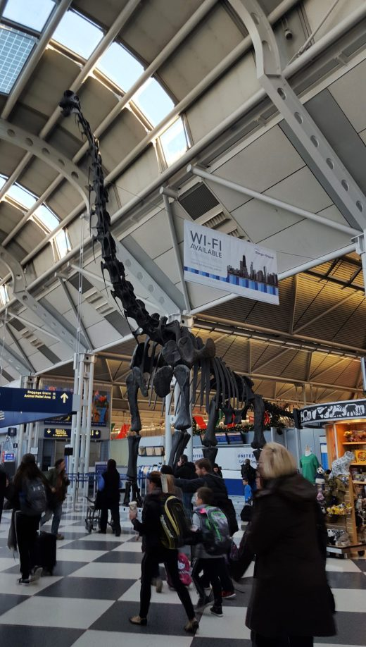 Dinosaur at Chicago O'Hare