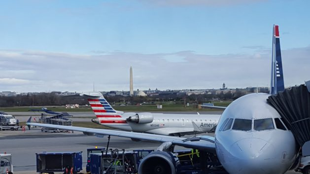 Washington Reagan airport view