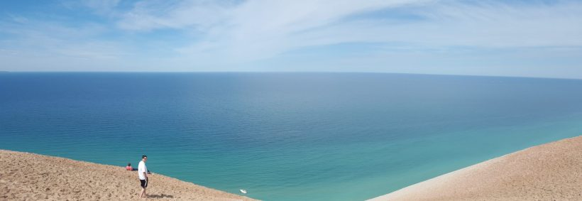 Lake Michigan from the Sleeping Bear Sand Dunes National Lakeshore