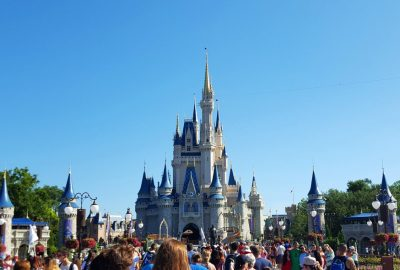 Cinderella Castle and the Hub at the Magic Kingdom in Walt Disney World