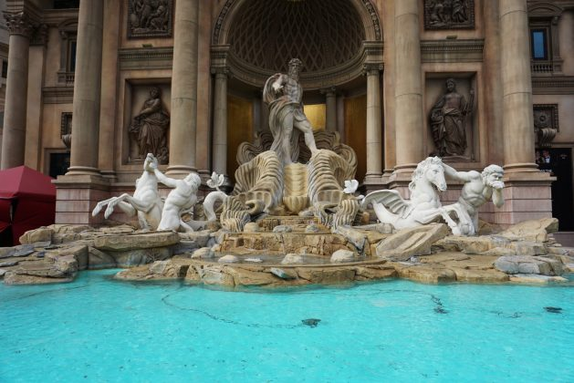Replica of the Trevi Fountain in Las Vegas, Nevada