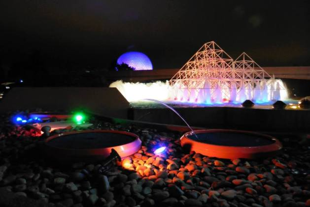 Epcot fountains at night - Disney World for adults