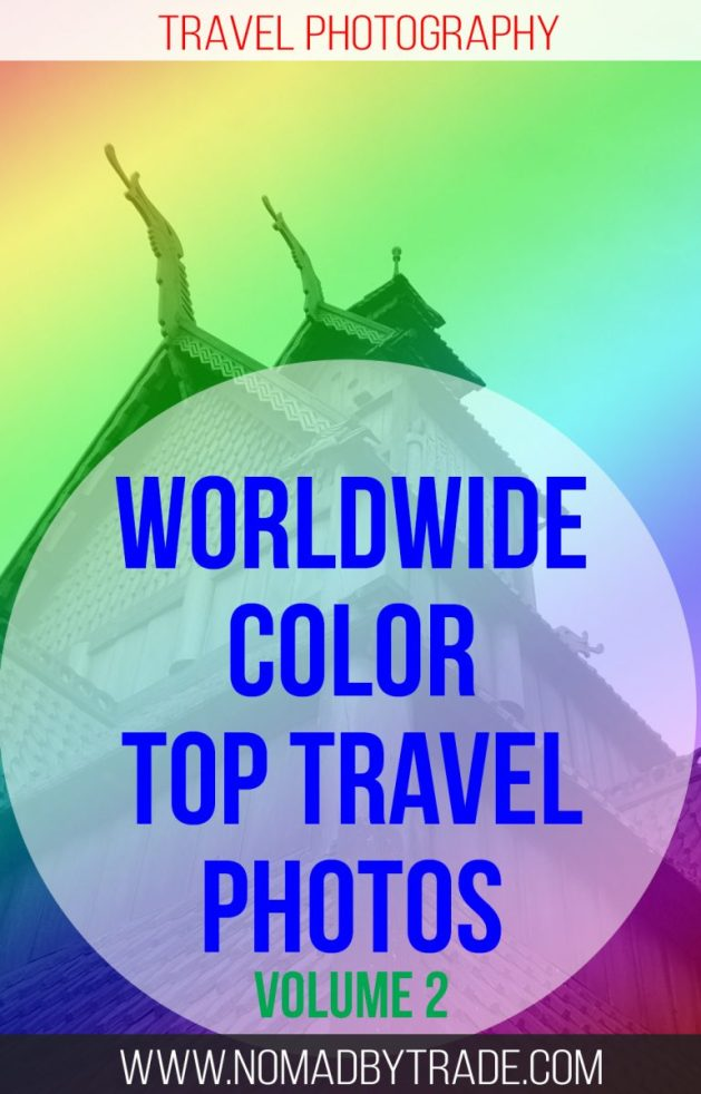 Instagram's most colorful travel photography is represented in this rainbow of color from around the world.