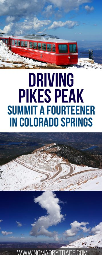 Everything you need to know about driving up Pikes Peak in Colorado Springs, Colorado. Rocky Mountains | Things to do in Colorado Springs | Pikes Peak summit | Fourteeners | Colorado attractions