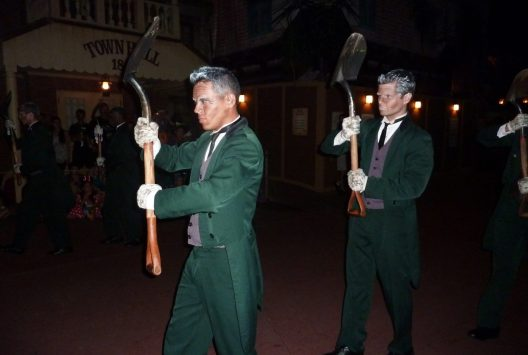 Grave diggers in the Hallowee parade at Disney World