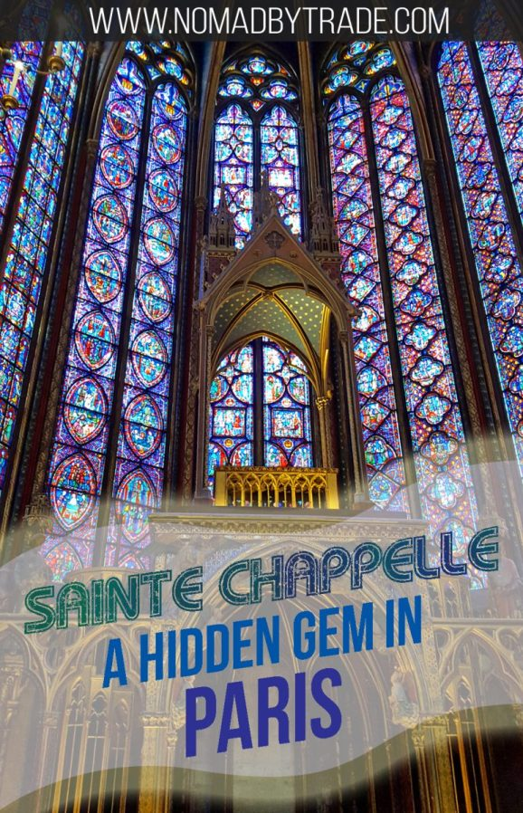 Sainte Chappelle in Paris, France has a spectacular display of stained glass. #Paris   #France   Things to do in Paris   #SainteChappelle