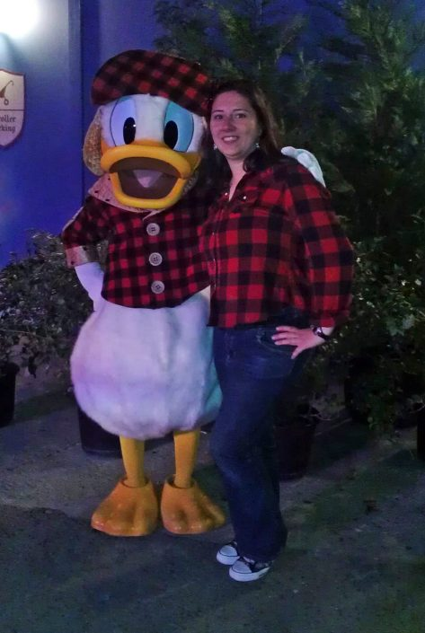 Donald Duck at the Magic Kingdom Christmas Party
