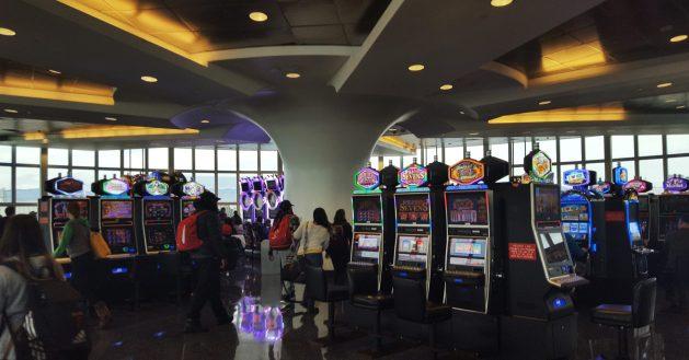Slot machines at Las Vegas McCarran Airport