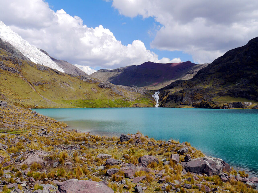 Mountain lake along the Ausangate trek, one of the best Peru hikes
