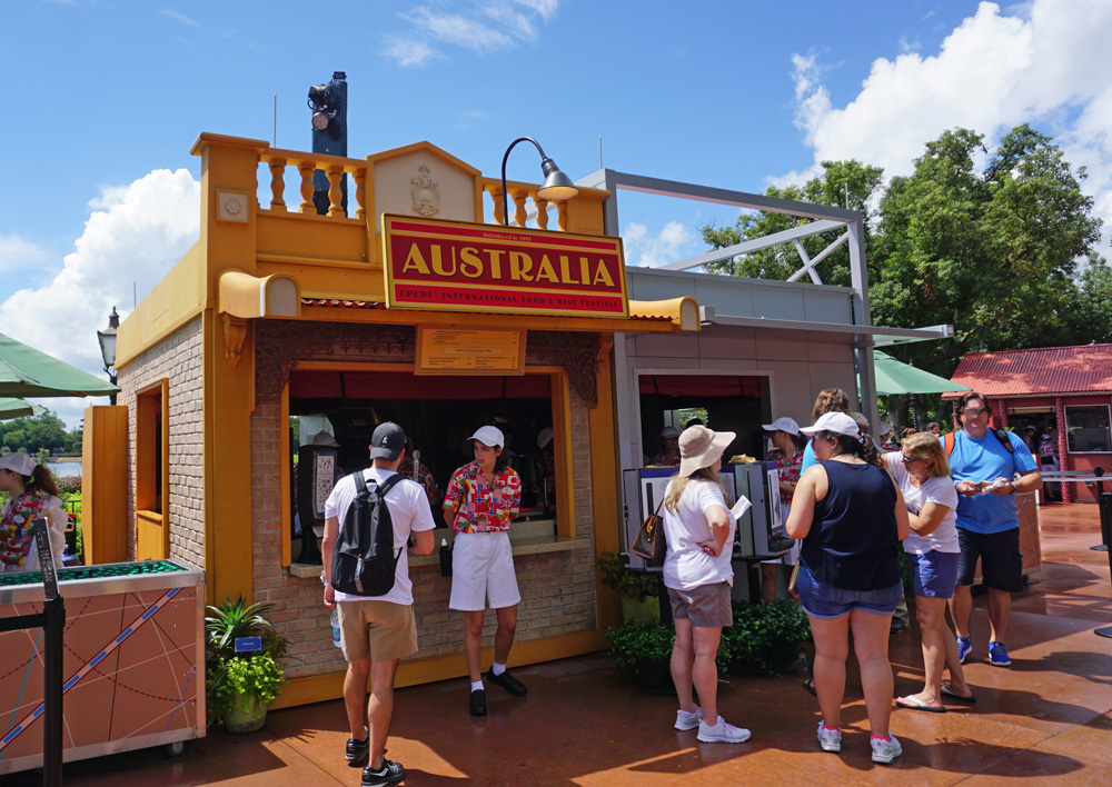 Australia kiosk at the Epcot International Food and Wine Festival