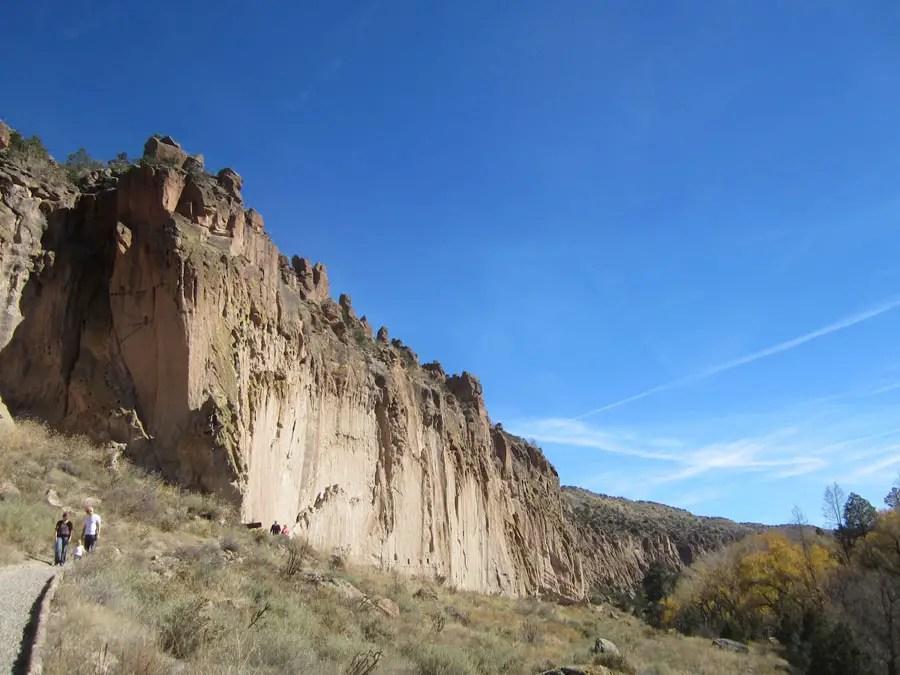 Cliffs in Bandelier National Monument