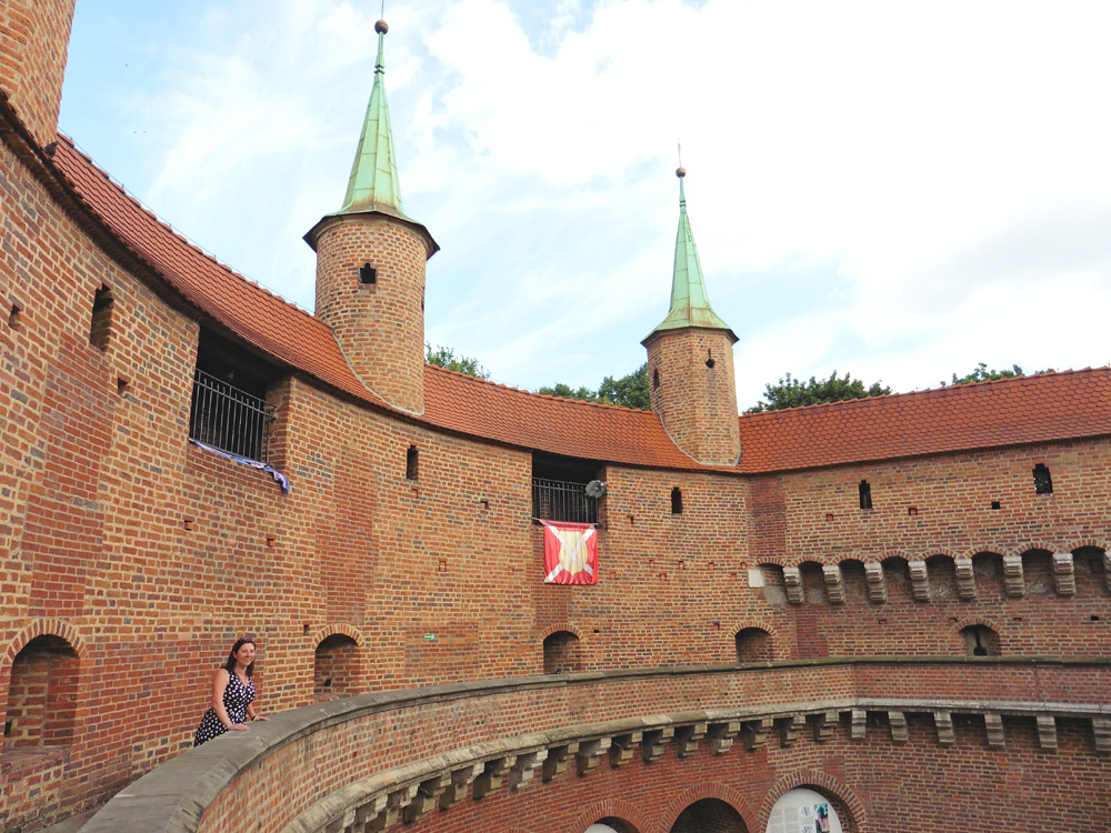 Old brick fortress in Krakow, Poland