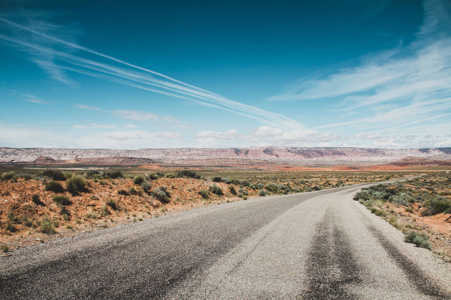 Road along the Burr Trail in Utah