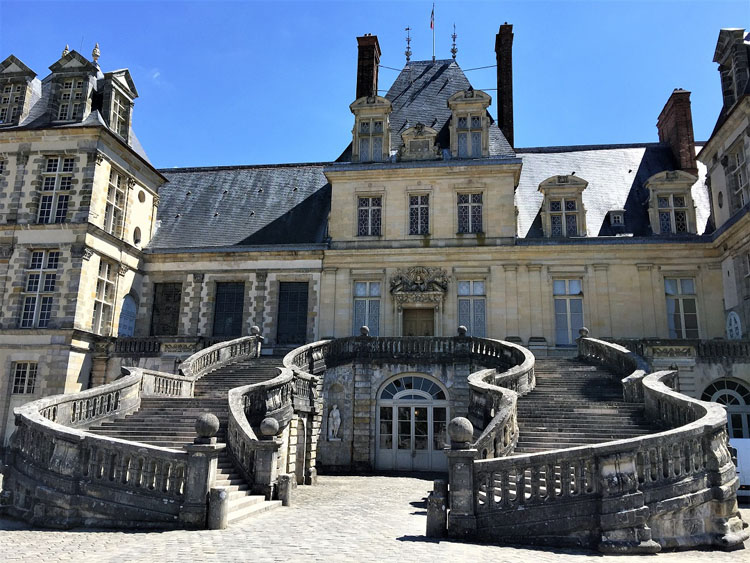 Historic Chateau Fontainebleau in France