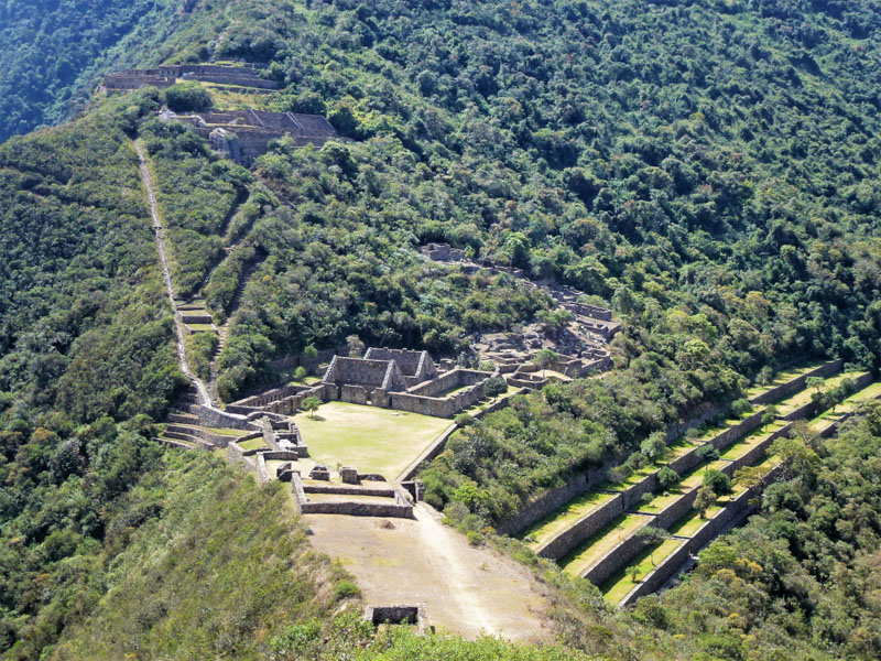 Incan ruins at Choquequirao