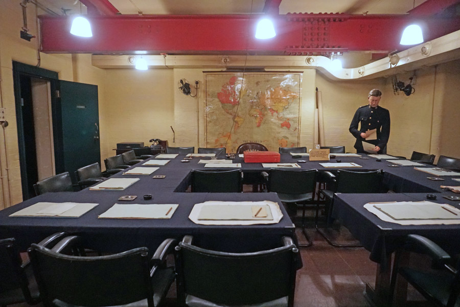 Churchill War Rooms museum in London