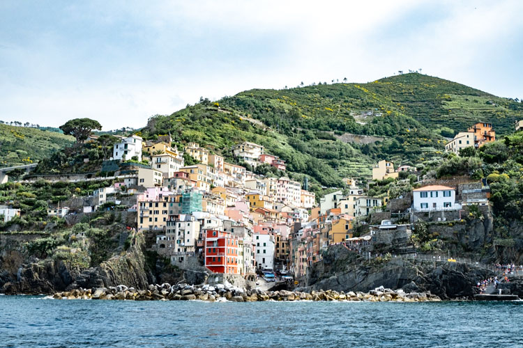 Colorful buildings in one of the Cinque Terre towns