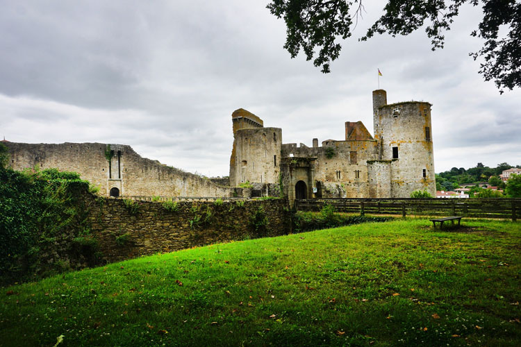 Ruins of the castle in Clisson, France