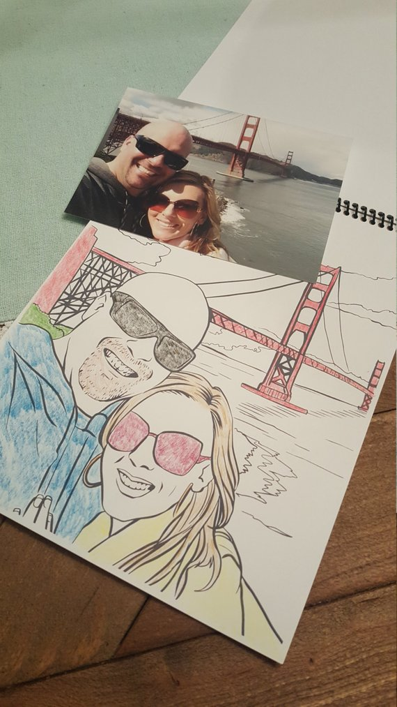 Custom travel coloring book