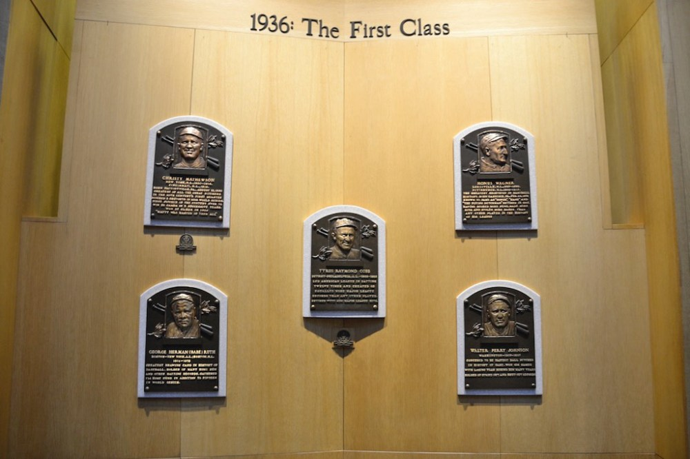 Plaques in the Baseball Hall of Fame
