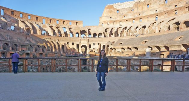 The arena level of the Colosseum.