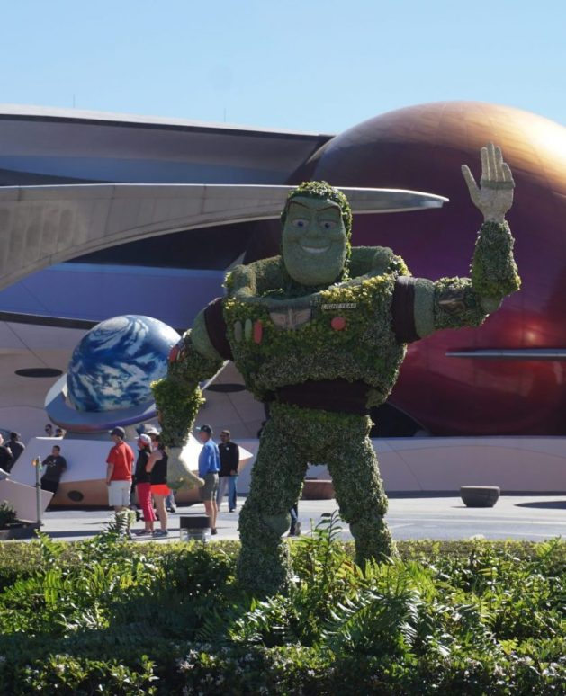 Buzz Lightyear topiary - Epcot Flower and Garden 2018