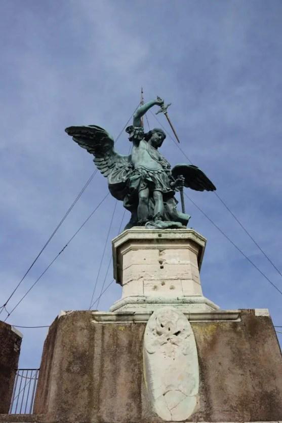 Archangel Michael statue atop Castel Sant'Angelo