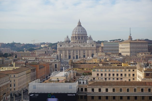 View of the Vatican City from the top of Castel Sant'Angelo