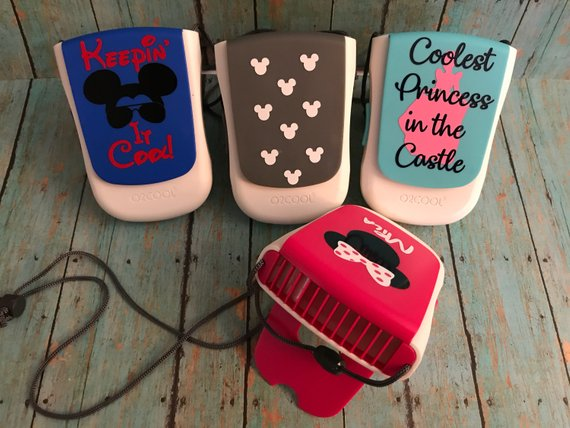 Personalized portable fans are great Disney Christmas gifts