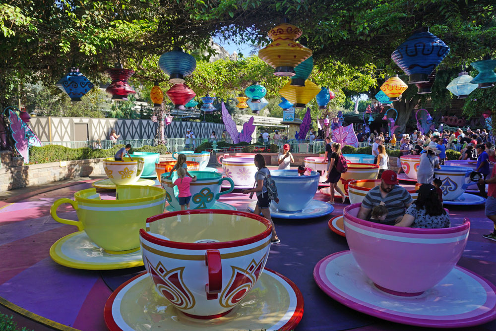 Mad Tea Party ride at Disneyland on an adult Disney vacation