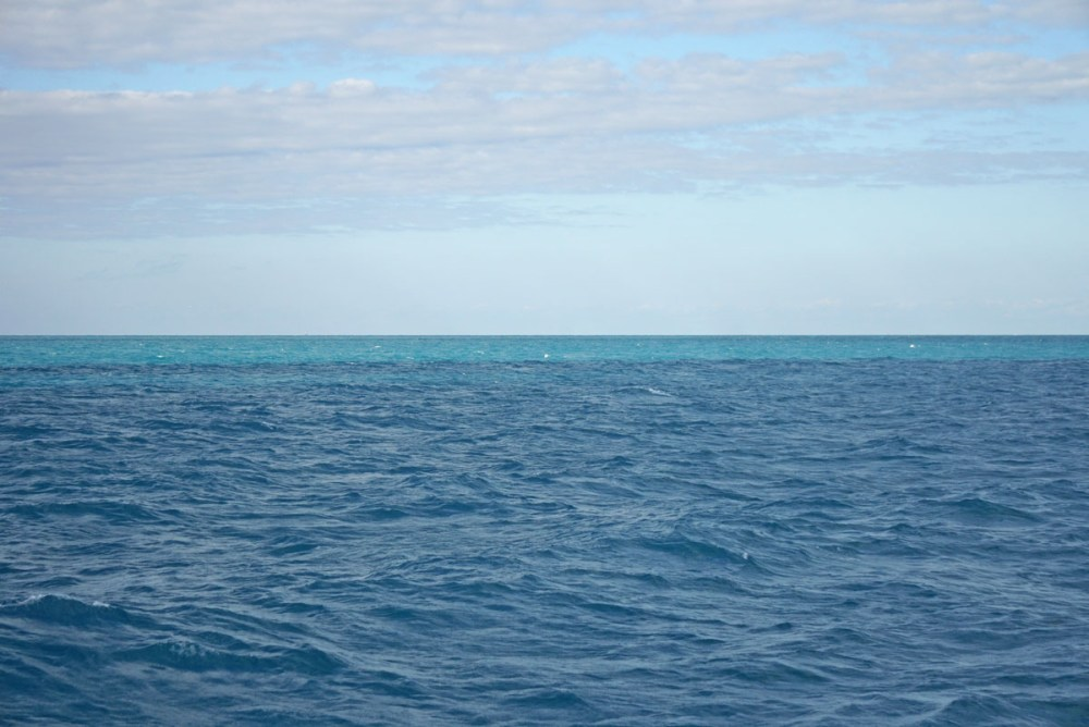 Open water en route from Key West to Dry Tortugas National Park