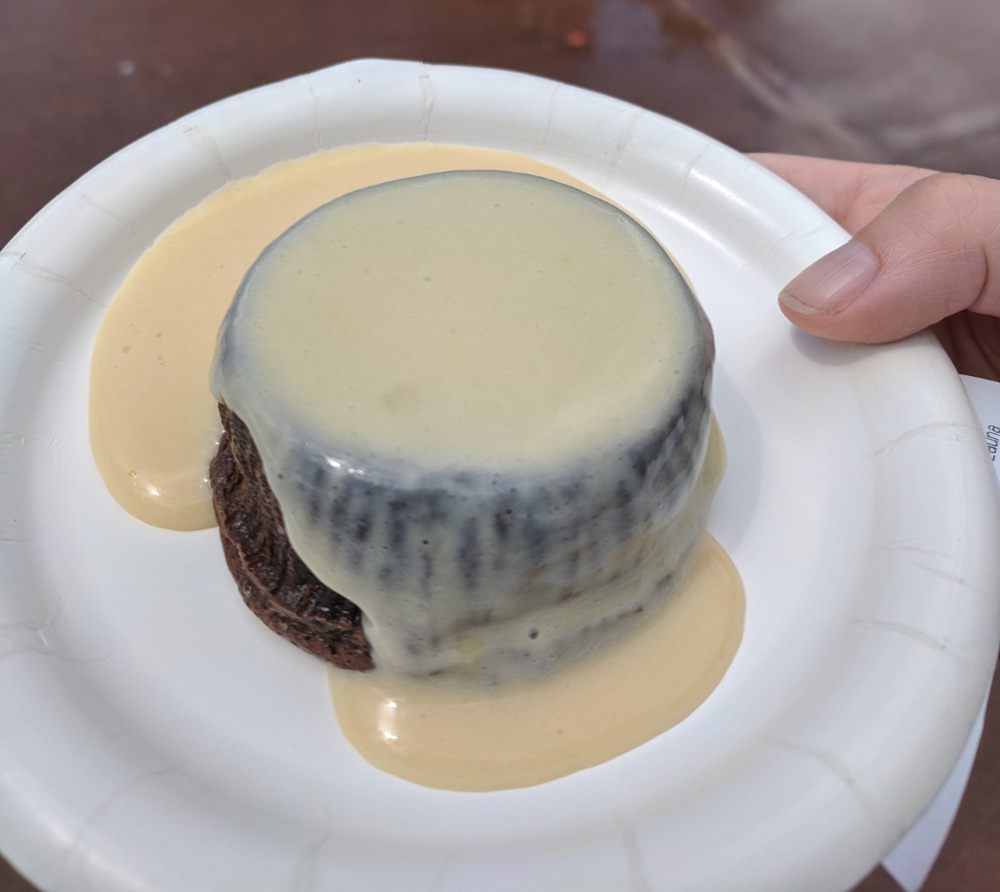 Chocolate dessert with Irish creme custard from the Epcot Food and Wine Festival Ireland kiosk